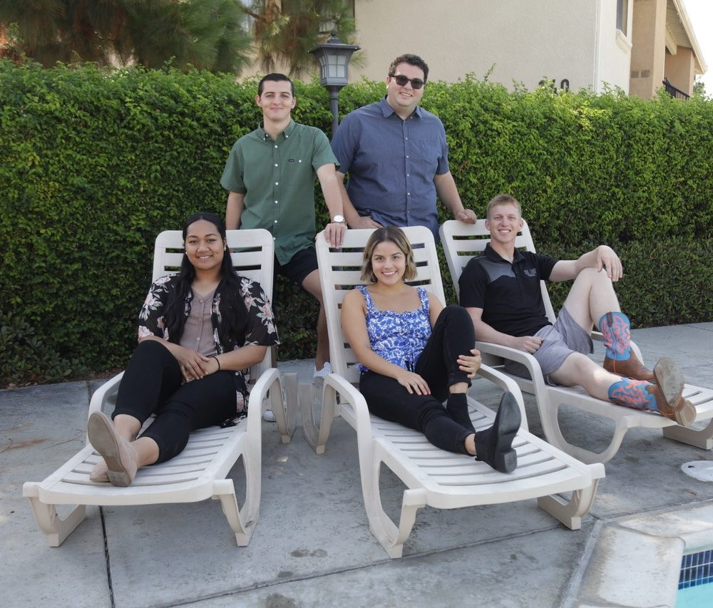 Group photograph of Lupe, Erika, Daniel, Adam and Trent