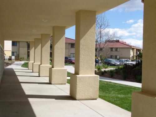 Recreation Center Exterior Hallway