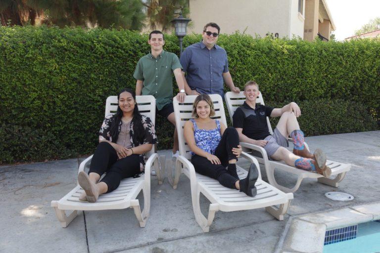 Group consisting of Lupe, Erika, Daniel, Adam and Trent