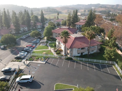 Visitor's Lot Aerial View